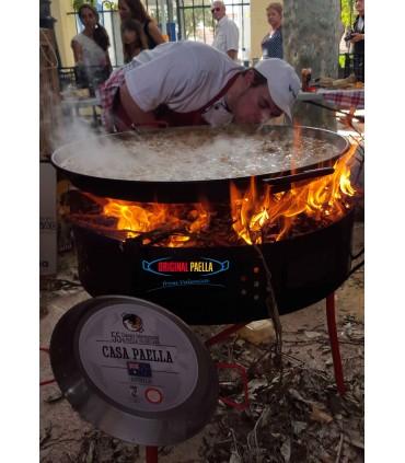 multifonction Barbecue + Paravents + Paella au feu de bois, gaz ou charbon
