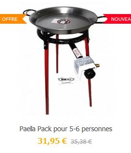 Offre Meilleur prix pour le pack Paella